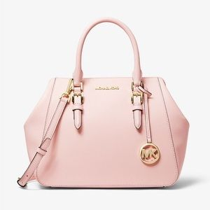 Micheal Kors Charlotte Large Leather Satchel